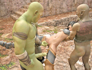 Hot Elf Princess Fucked Hard By Orcs