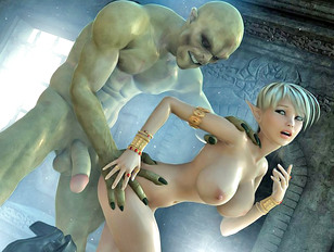 Hot Blonde Elf Girl Raped By Little Green Men