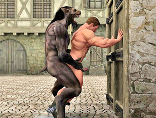 Gay Sex In Hd - Werewolf Moans As He Drills Human Ass