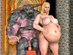 Horny Slut In Sexy Lingerie Impregnated By Demon King