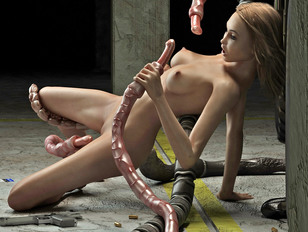 Flexible 3d Babe Ravaged By Slimy Tentacles