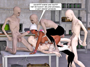 3dsexmonster comics of black bimbo getting her holes filled