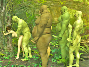 xxx gangbang line deep in the woods during demon sex 3d