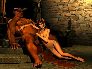 Dark elf girl raped by a werewolf pack