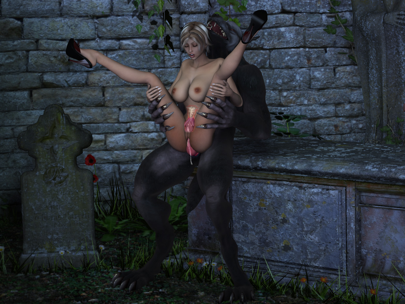 Girl fucked by werewolf hentay photos
